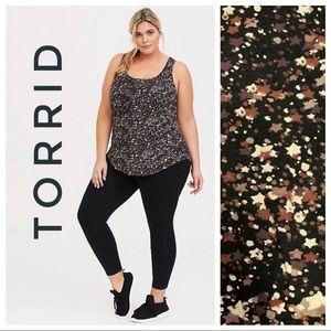 Torrid BLACK & MULTI STAR ACTIVE TANK